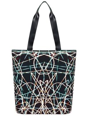 Anekaant Flex Black Printed Canvas Tote Bag