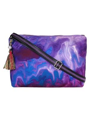 Anekaant Tabernacle Purple Printed Canvas Sling Bag