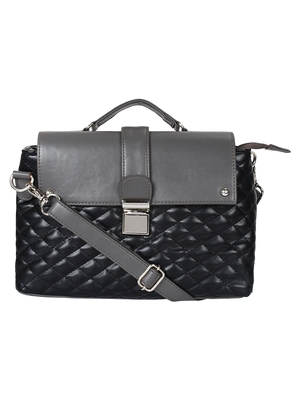 Anekaant Glaze Black and Grey Leatherette Sling Bag