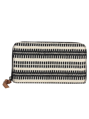 Anekaant streak Black and White jacquard wallet