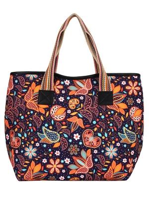 Anekaant Artsy Digital Print Polyester Canvas Shaulder Bag Blue and Multicolour