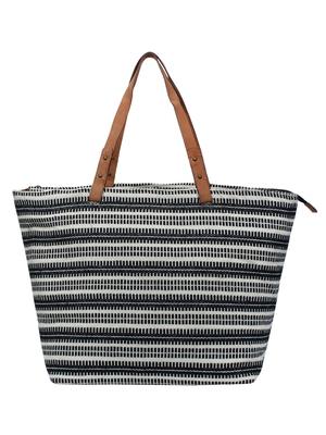 Anekaant Hoist Black & Multicoloured Jacquard and Cotton Handbag