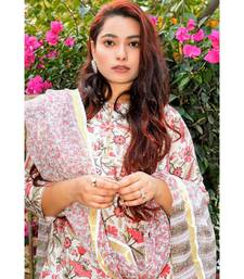 Nerine Floral Chanderi Suit Set