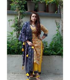 Mustard Gold Floral Suit Set