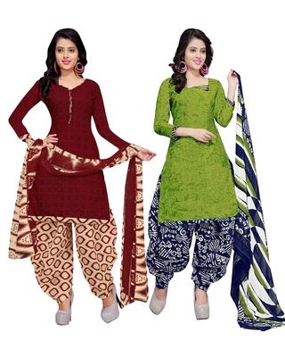 Cotton Printed Combo Salwar With Dupatta (Set Of 2)