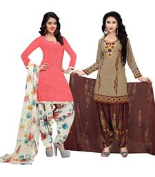 Cotton Printed Combo Salwar With Dupatta (Set Of 2)