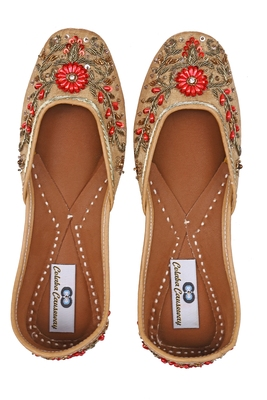 Rust solid ethnic women footwear