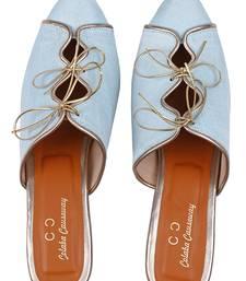 Blue colorblocked party women footwear
