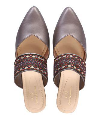 silver colorblocked casual women footwear
