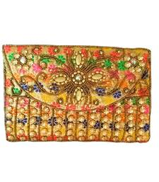 6b3be2f9abd17 Rajasthani Style Hand Embroidered Bridal Clutch For Women Multicolor