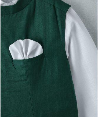 white plain linen boys kurta pyjama