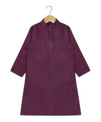 purple plain cotton poly boys dhoti kurta