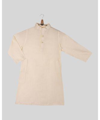 white plain cotton boys kurta