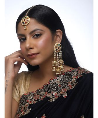 Navratan Kundan Tikka With Earrings