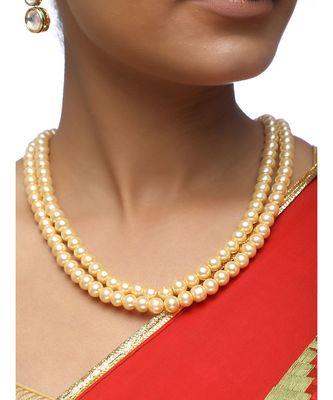 maroon Pearl Neckpiece