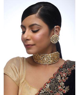 Golden Kundan Choker Set