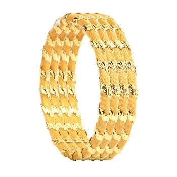 Set Of 4 Wire Mesh Golden Kada For Dailywear By Leshya
