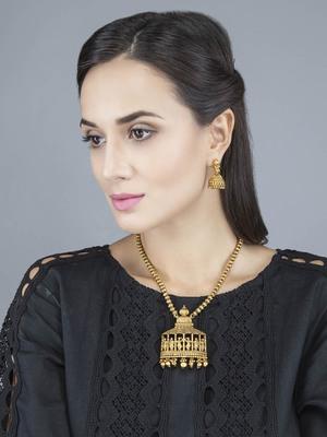 Gold Beaded Jewellery Set