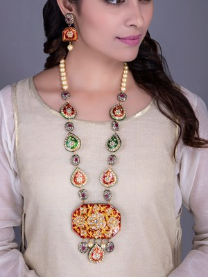 Red And Green Ethnic Jewellery Set