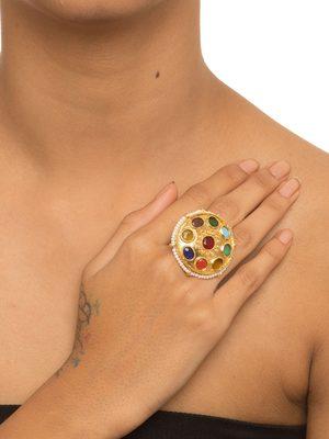 Multicolor Navaratna Ring