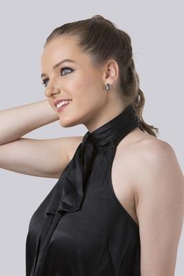Black Kundan And Stoned Oval Stud Earrings