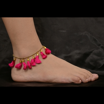 Pink anklets