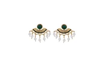 Vendee Jewellery Ethnic Gold Plated chandbali  Earring For Women Zinc Jhumki Earring
