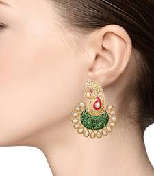 Jewellery Fashionable Chandbali Shape Gold Plated earring for women