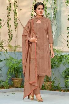 e8070ad2bb Chanderi Salwar Kameez Online   Buy Latest Chanderi Suits Neck ...