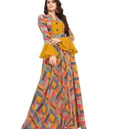 Multicolor printed rayon long kurti