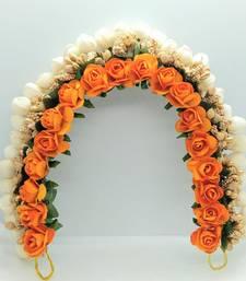 Orange flower gajra