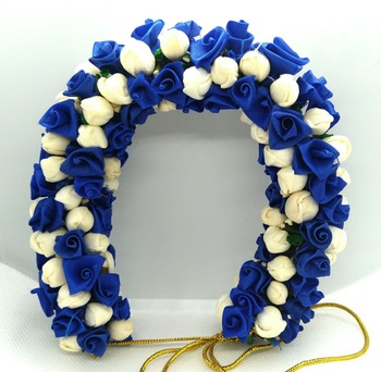Blue flower gajra