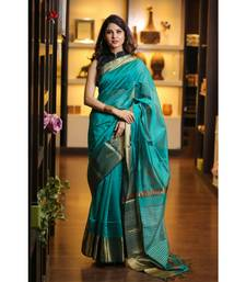Green Shade Handwoven Maheshwari Saree