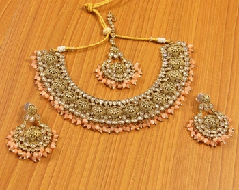 Gold zircon  necklace sets