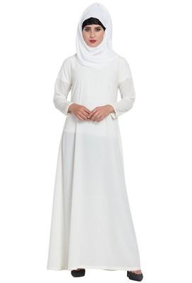 White Plain Nida Abaya