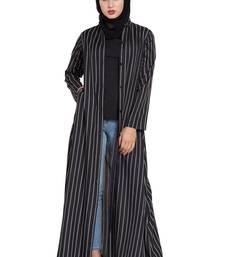 black plain crepe abaya