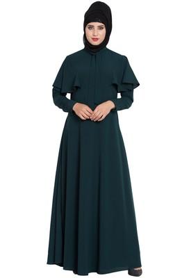 teal plain nida abaya