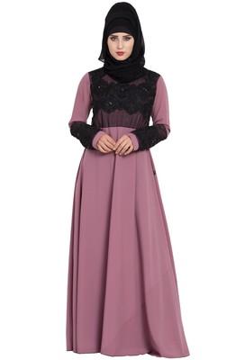 Pink Plain Nida Abaya