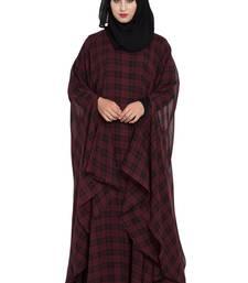 mushkiya black & maroon irani kafatn in dual layer