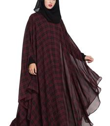 mushkiya black & maroon irani kafatn in dual layer