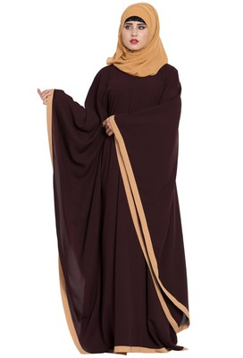 Brown Plain Nida Abaya