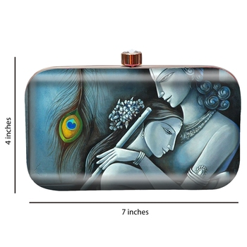 MaFs Women's Printed Sling Box Clutch For Bridal, Casual, Party, Wedding