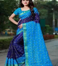 d7152e31409ffa Blue printed bandhani saree with blouse - Fashion 11 - 1486141