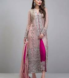Light Pink Designer Heavy Embroidery Georgette Pakistani Style Indian Suit
