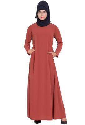 Rust plain nida abaya