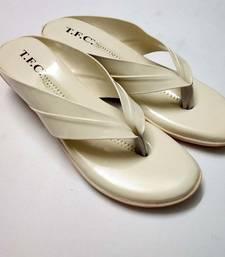cream synthetic footwear for women