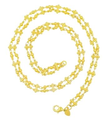 Saizen Dazzling Yellow Gold Chain For men/boys/boyfriend/husband & unisex