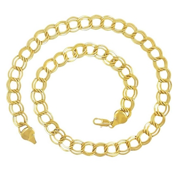Saizen CH188 Designer Yellow Gold Double Wheat Chain with Smooth Finish Gold-plated Plated Stainless Steel Chain