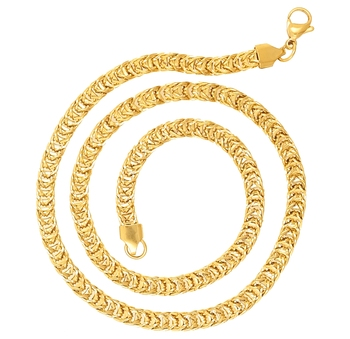 Saizen Ch214 Cool Yellow Gold Plated Chain For Men, Boyfriend & Husband Gold-Plated Plated Stainless Steel Chain