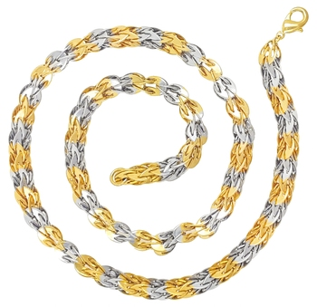 Saizen Gold&Silver Plated Stainless Steel Chain